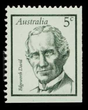 Image of the Edgeworth David Australian postage stamp